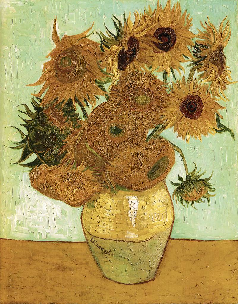 Zonnebloemen van Vincent van Gogh 1888