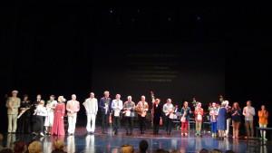 Hexagon Ensemble met acteurs en dansers van het Russian Academic Drama Theatre in de voorstelling 'Vincent van Gogh' - Ufa 6 december 2015